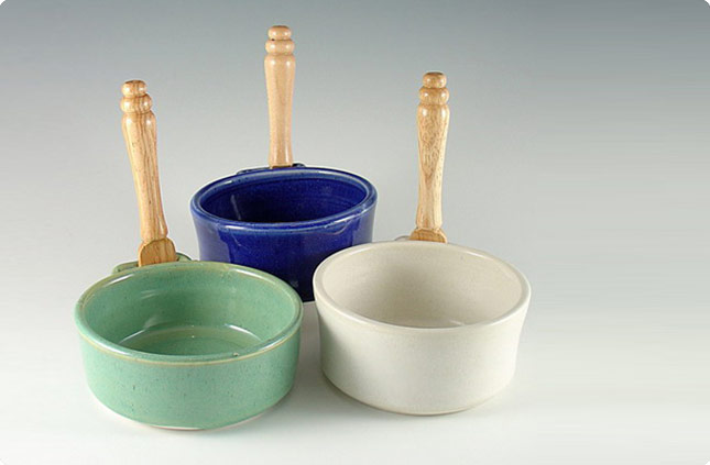 Pate Bowls with Wooden Knife